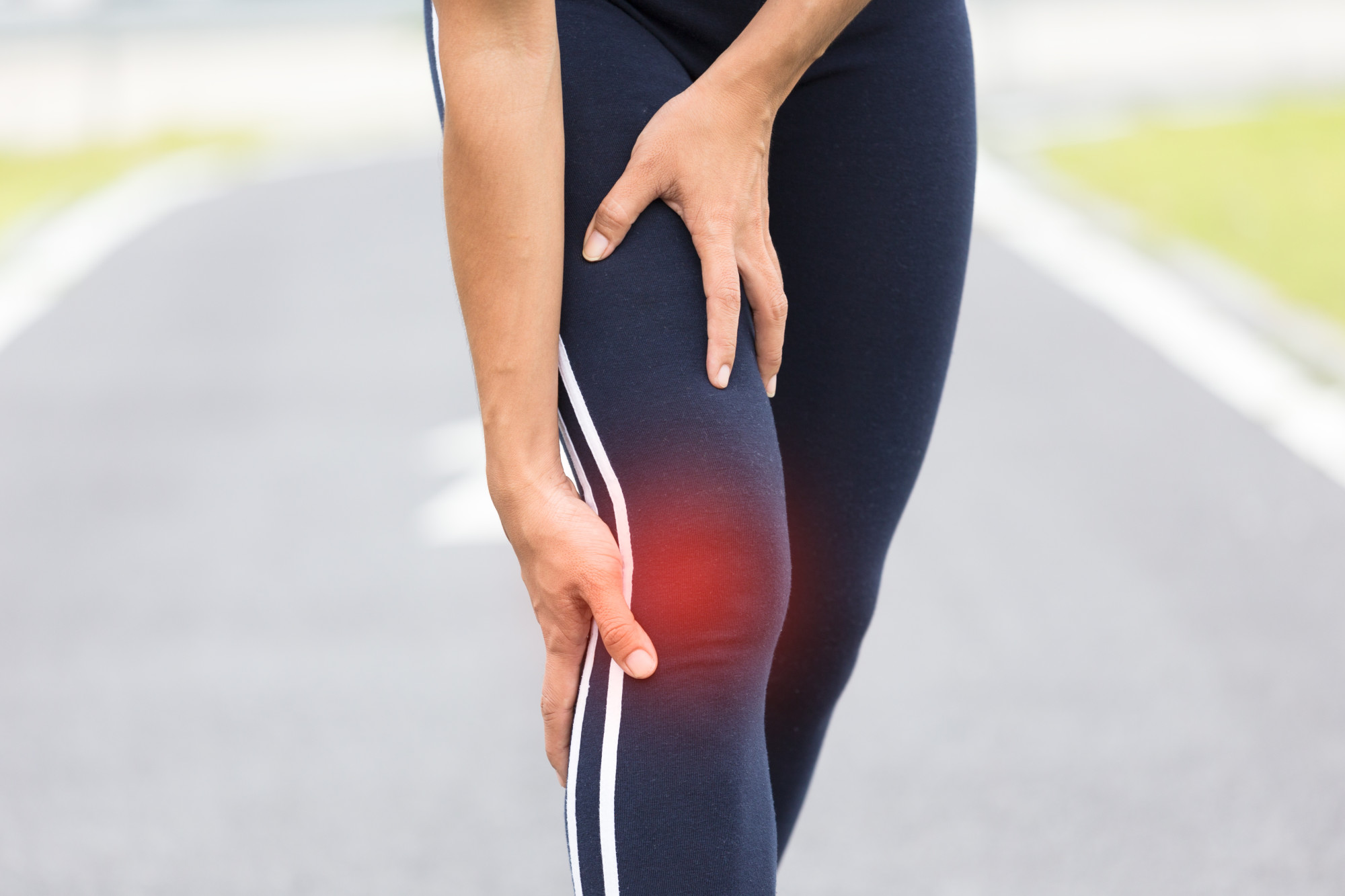 person with runner's knee